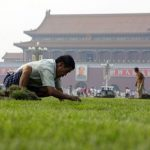 Tiananmen goes green!