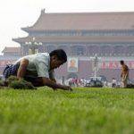 Tiananmen goes green!