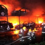 20 cars on fire on a Chongqing Highway