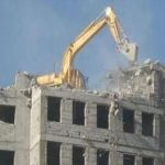 Unusual vision: Demolishing a building from the top down