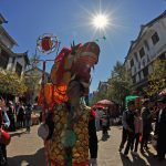 Traditional Dragon Dance images in Heqing, Yunnan