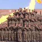 PLA anti-chemical warfare unit with flamethrower