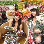 Vanilla bath at Taiwan flower market