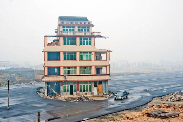 nail house in Wenling, China