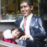 Statue of President Obama in Chongqing