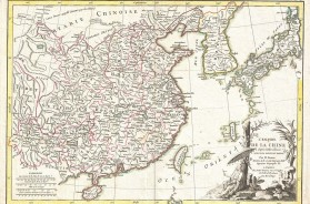 Bonne Map of China, Korea, Japan and Formosa
