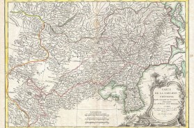 Bonne Map of Chinese Tartary, Mongolia, Manchuria and Korea (Corea)