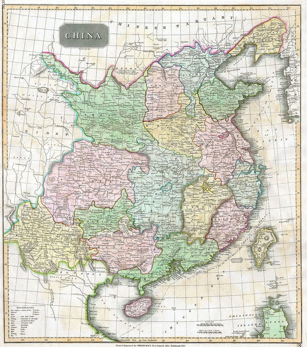 1815 - Thomson Map of China and Formosa (Taiwan)
