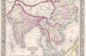 Map of Hindoostan, Farther India, China, and Tibet.