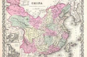 1855 Colton Map of China, Taiwan, and Korea