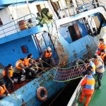 Chinese freighter crew rescued at  Lianyungang