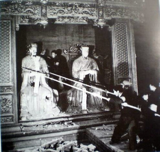 the destruction of a Confucian temple triggers the Cultural Revolution