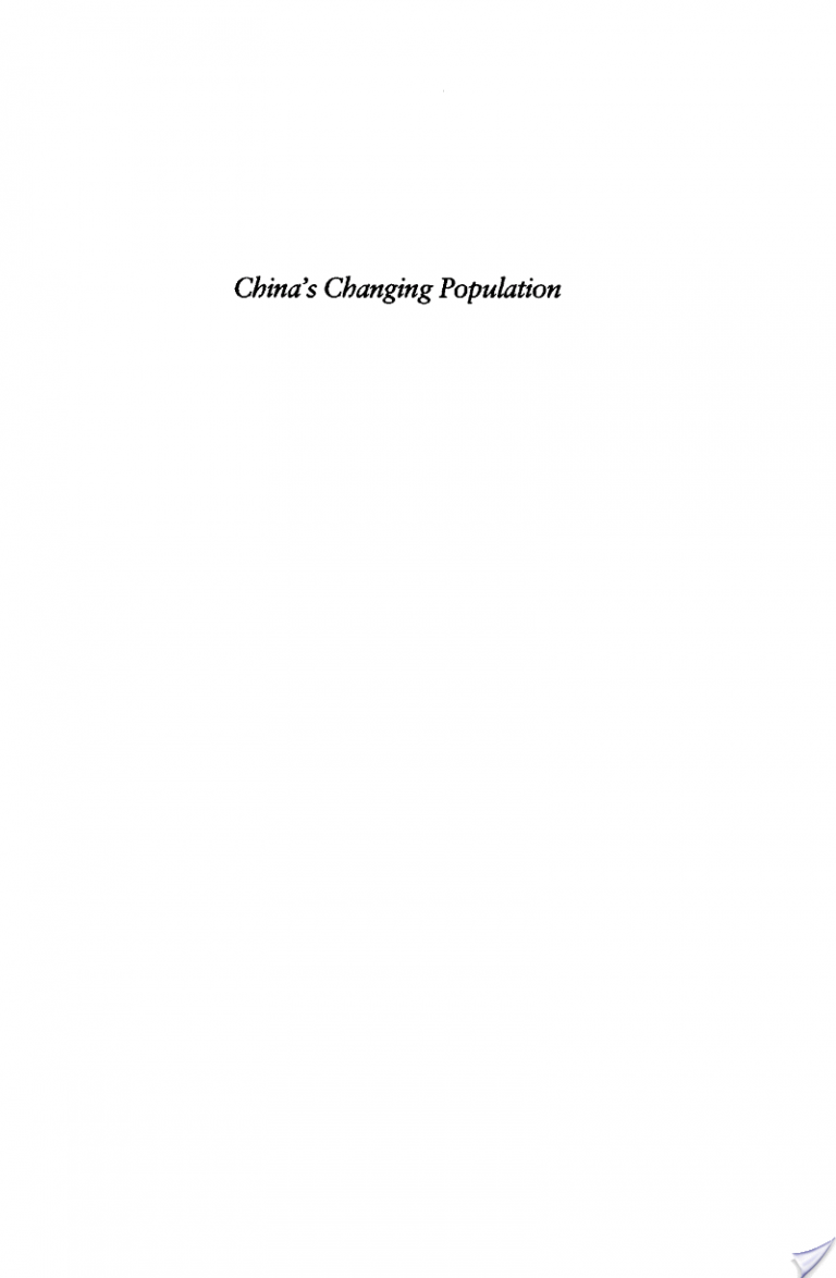 China's Changing Population