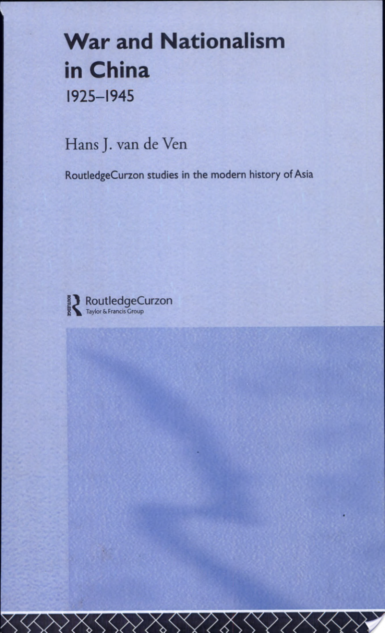War and Nationalism in China, 1925-1945
