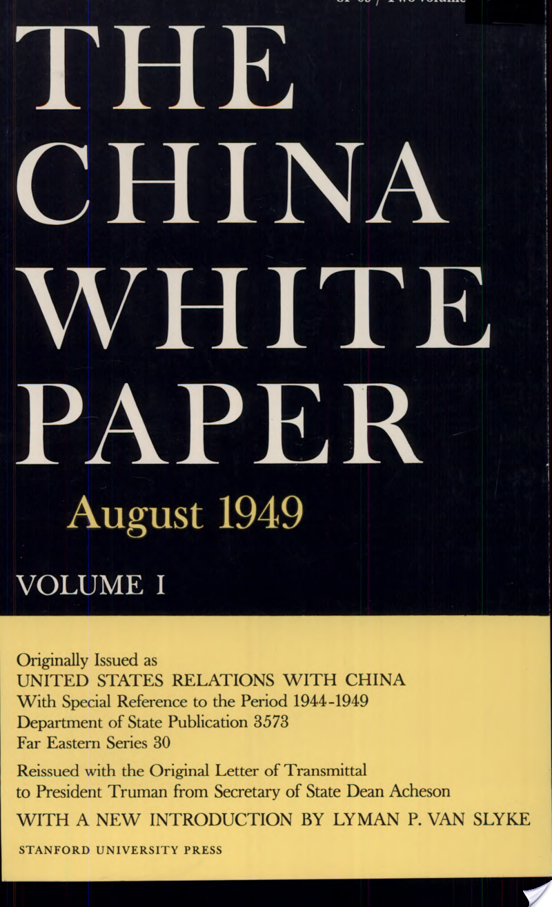 The China White Paper, August 1949