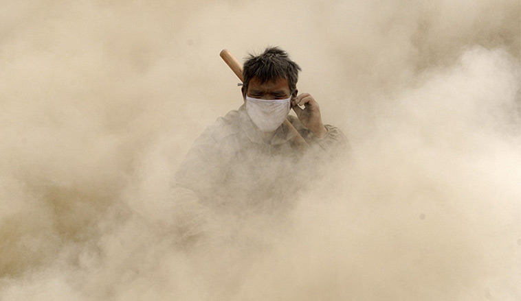 dust pollution in China