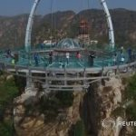 China's towering glass-bottom platform opens