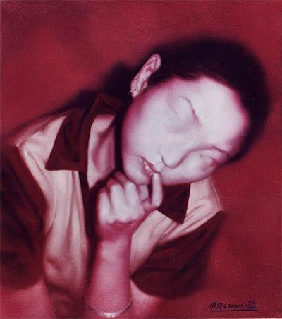 Women's Portraits Series 2000 Oil on Canvas 40 x 45 cm