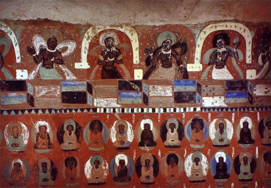 Cave 7, Western Thousand Buddha Caves, Gansu, China (Northern Wei)