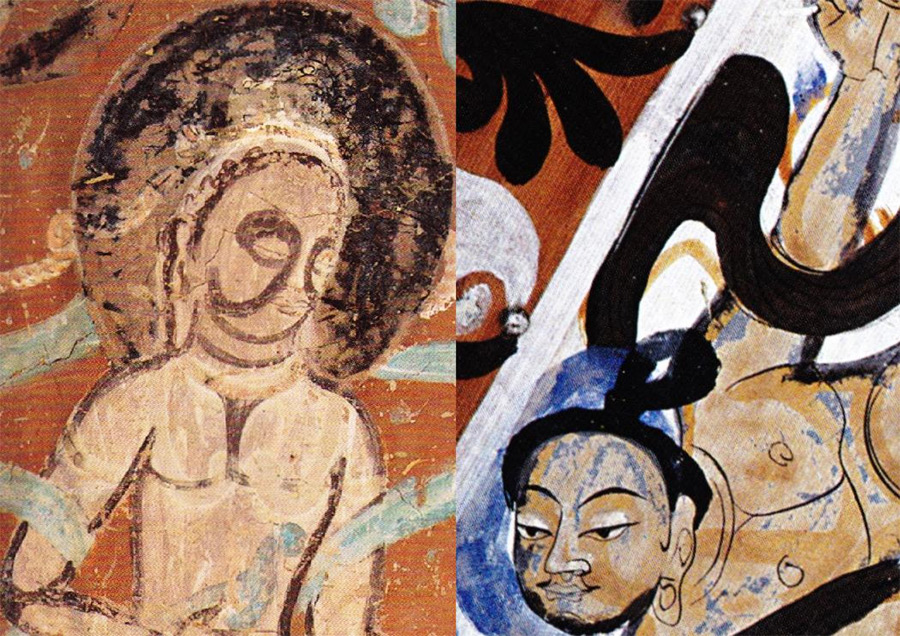 Dunhuang-figures-showing-shading-technique