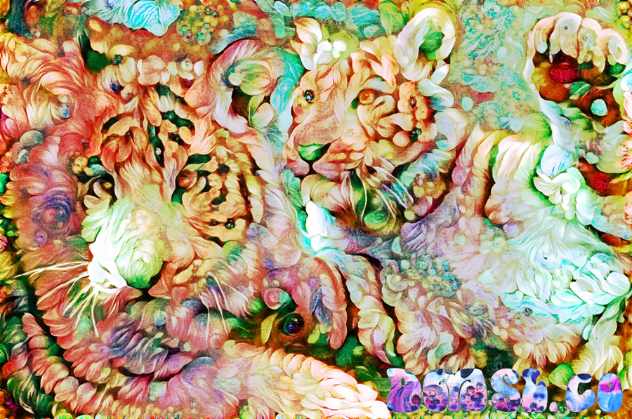 TIGERS - Deepdreaming China-deep dream images, deep dream neural network,deep dream art,google deep dream