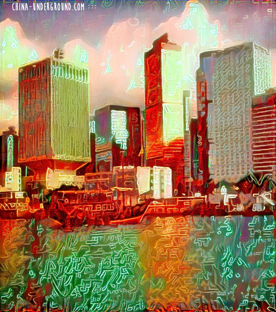 hong_kong - Deepdreaming China-deep dream images, deep dream neural network,deep dream art,google deep dream