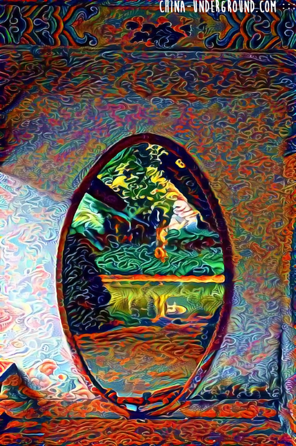 chinese door-deep dream art
