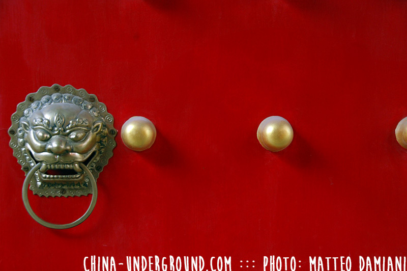 red-chinese-door