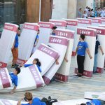 Largest human mattress dominoes world record gets toppled in China