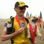 Extreme runner to take Chinese stray dog home after it followed him for 125km