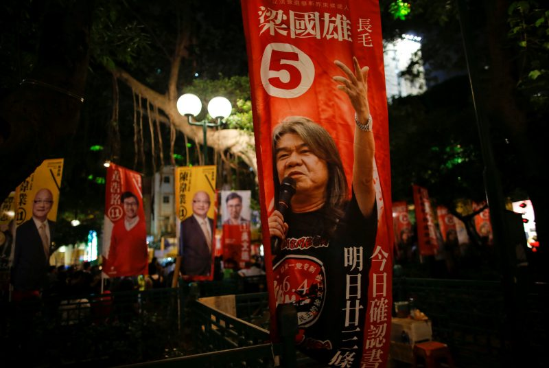Hong Kong,hong kong independence,Leung Chun-ying,Albert Ho,Starry Lee, Democratic Alliance for the Betterment and Progress of Hong Kong,democracy, China pressures Hong Kong to squash independence calls ahead of poll