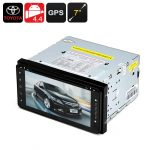 2 DIN 7 Inch Toyota Car DVD Player – Android OS, 800×480, Quad-Core CPU, 1GB RAM, GPS, Wi-Fi, Bluetooth