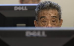 An elderly person attends a basic computer course at the Silver Infocomm Junction at RSVP Singapore (The Organisation of Senior Volunteers) in Singapore June 30, 2016. The Infocomm Development Authority of Singapore's Digital Inclusion programme partners with organisations such as RSVP Singapore to encourage seniors to stay connected in the digital age and enjoy the conveniences of technology to enhance their lives. \n\nMinistry of Communications & Information via Reuters