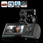 Dual Camera Car Blackbox DVR with GPS Logger and G-Sensor