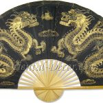 Chinese Wall Fans : Golden Dragons