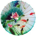 Paper Umbrellas : Koi Fish and Lillies