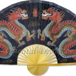 Chinese Wall Fans : Black Dragons