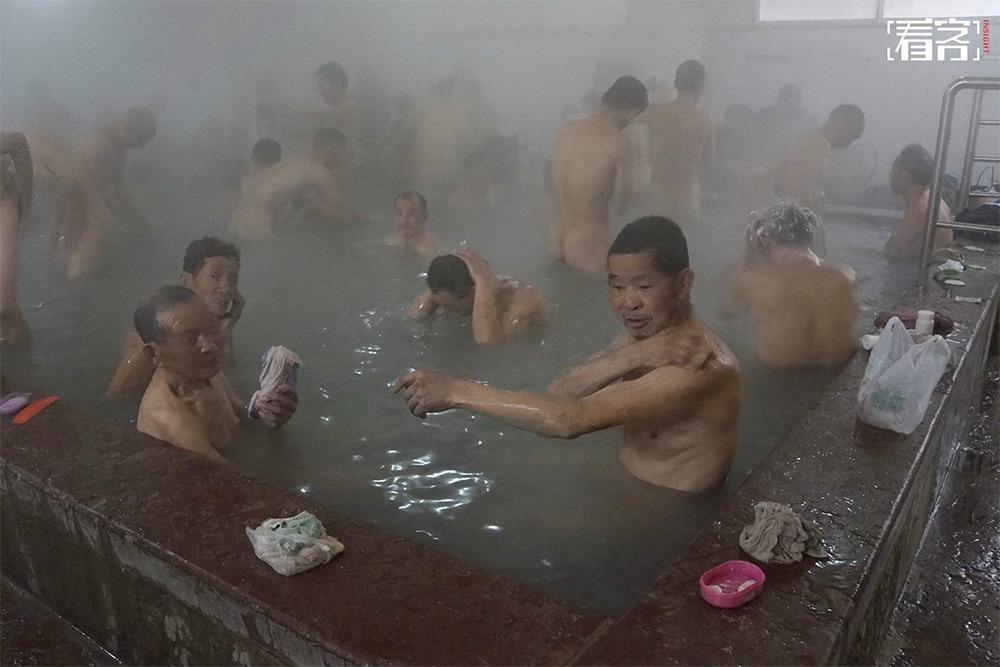 Chinese public hot springs