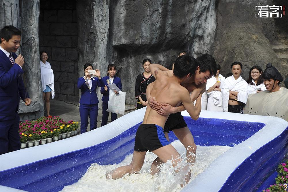 Tofu Wrestling contest