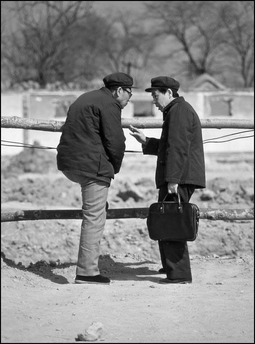 Chinese old men chatting