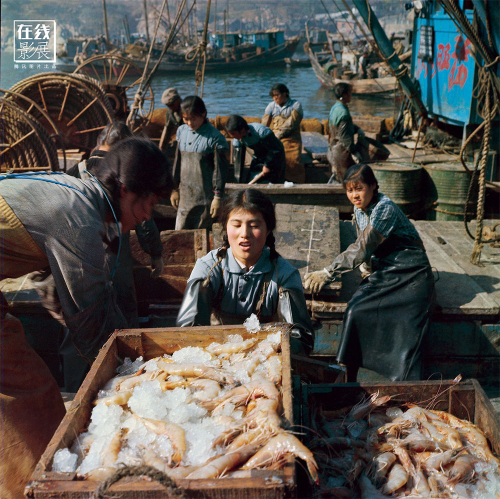 "1971. On the island of Weichangshan, in front of Dalian, in 1958, a group of women, breaking the Chinese traditions, decided to go fishing, with excellent results. In 1962, the ""March 8"" was the first vessel to sail driven by a woman captain, Wen Shuzen. In 1971, the March 8 captured a record amount of shrimps. The export of shrimps at that time represented an important economic resource for China."
