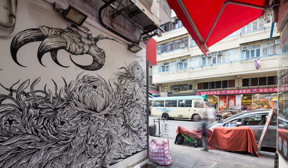 Hong Kong mural