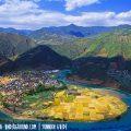 Taiji fishing village - a village is shaped like the Yin and Yang symbol
