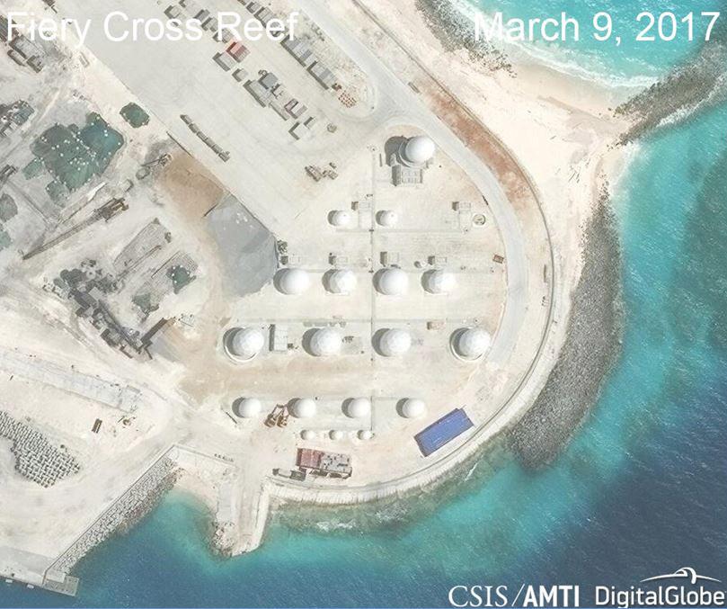 China warplanes artificial islands, China able to deploy warplanes on artificial islands any time – U.S. think thank