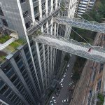Chongqing flyover is the highest overpass in the world connecting two buildings