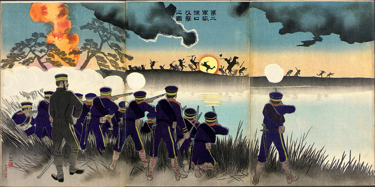 Illustration of the Second Army's Assault on Port Arthur