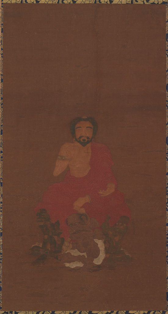 Sakyamuni Seated Upon Three Demon-like Creatures