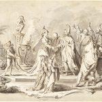 The Marriage of Europe and China by Italian '700 artist Pietro Antonio Novelli