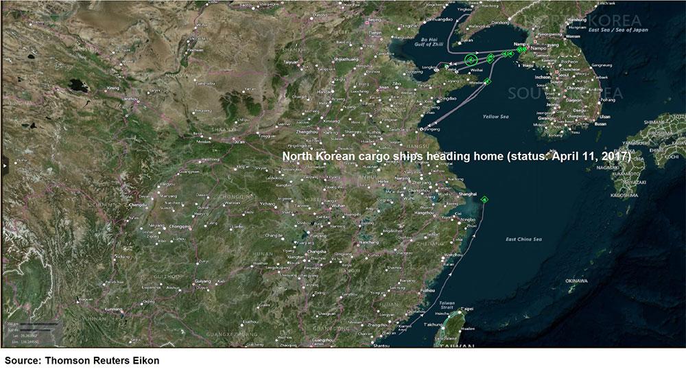 north korean cargo ships