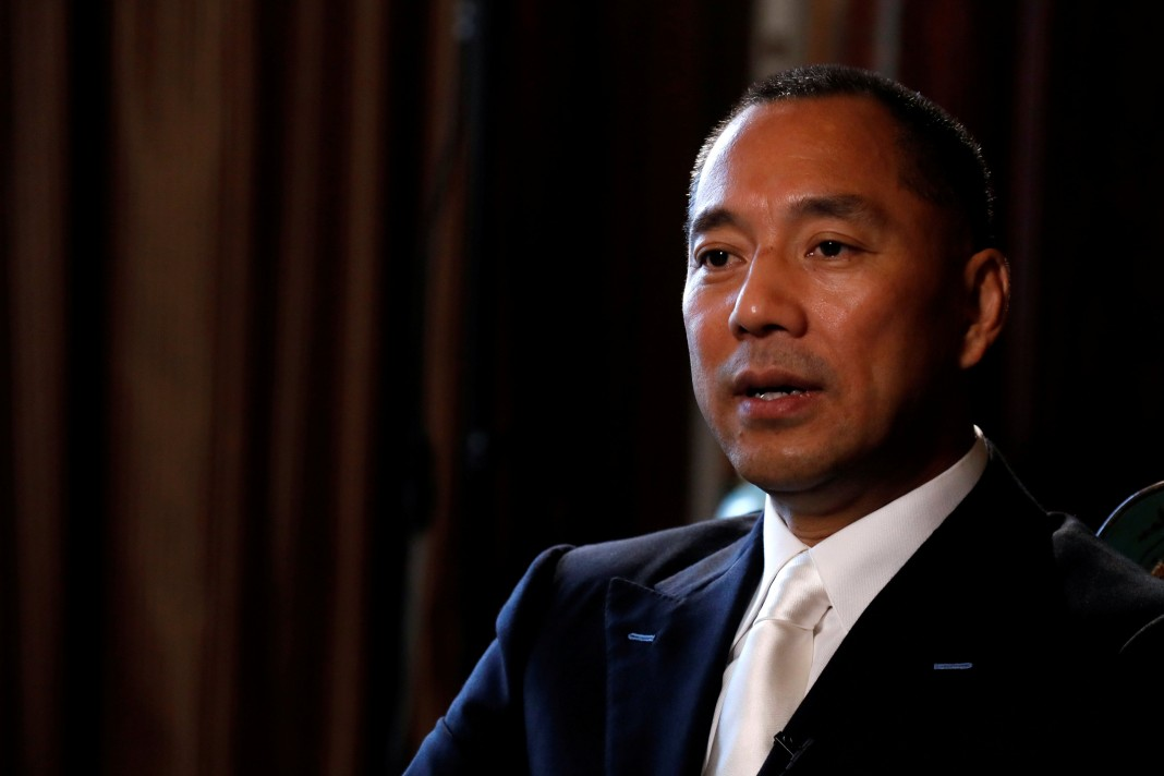Exiled Chinese tycoon Guo Wengui